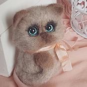 Куклы и игрушки handmade. Livemaster - original item Kitty Bobblehead felted toy. Handmade.