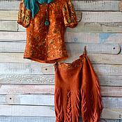 """Одежда ручной работы. Ярмарка Мастеров - ручная работа Костюм """" Терра"""" (жакет и бриджи) нуно-войлок. Handmade."""