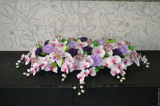 Свадебные цветы ручной работы. Ярмарка Мастеров - ручная работа. Купить Весна. Handmade. Фиолетовый, розовый, розы