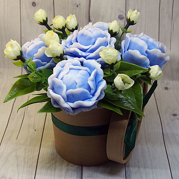 Cosmetics handmade. Livemaster - original item A small soapy bouquet of five peonies. Handmade.