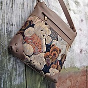 Сумки и аксессуары handmade. Livemaster - original item A small bag with bears.. Handmade.