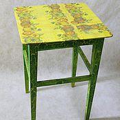 Для дома и интерьера ручной работы. Ярмарка Мастеров - ручная работа Высокая зеленая табуретка для цветов кантри. Handmade.