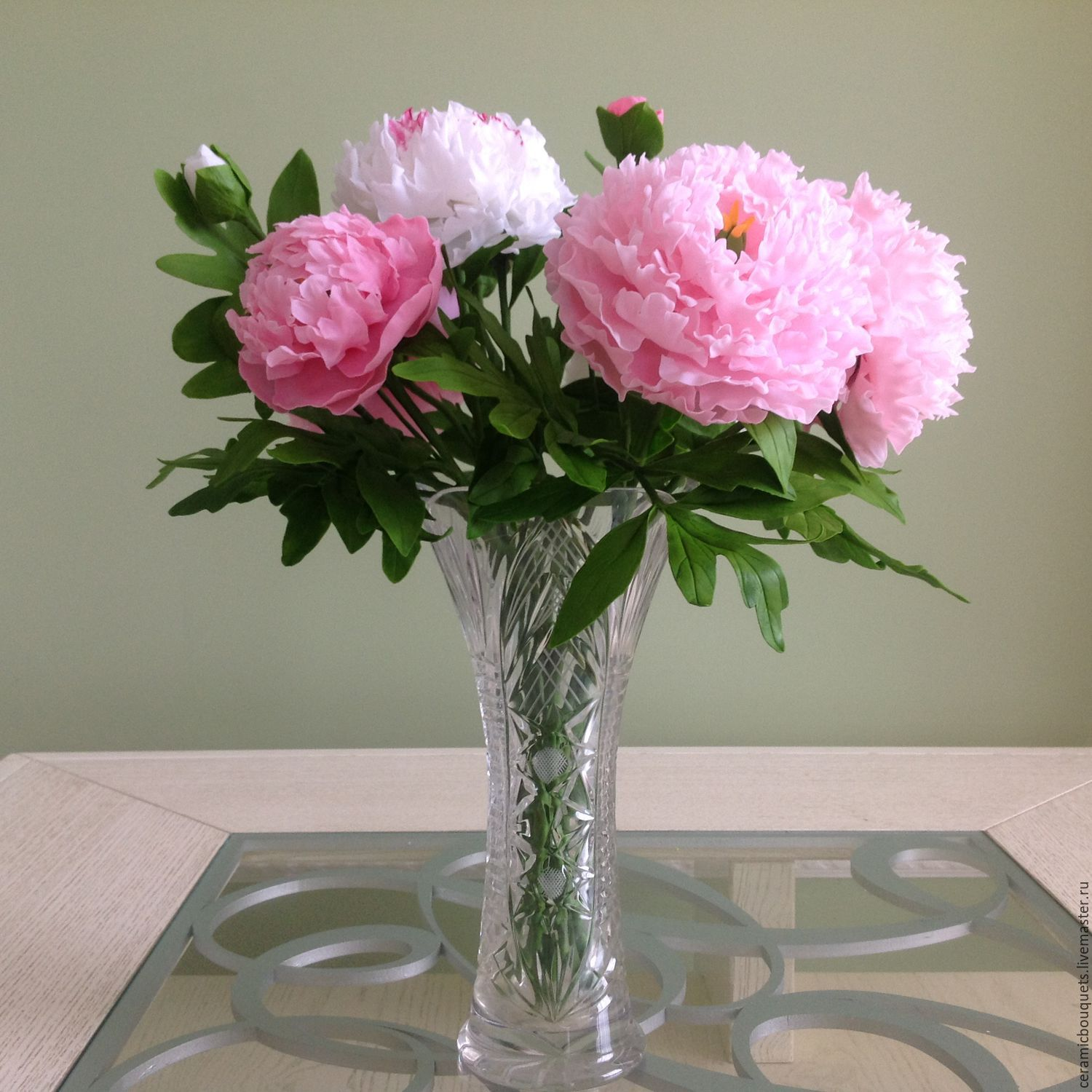 Captivating Order Peonies In A Gift. Ceramicbouquets. Livemaster. Pink, Gift