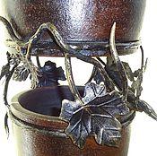 Для дома и интерьера ручной работы. Ярмарка Мастеров - ручная работа Высокая напольная ваза с виноградными листьями. Handmade.