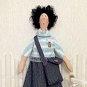 Для дома и интерьера ручной работы. Ярмарка Мастеров - ручная работа Хранительница ватных дисков и палочек (девочка с сумкой). Handmade.