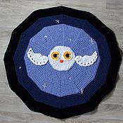 Для дома и интерьера ручной работы. Ярмарка Мастеров - ручная работа Ночная охота-вязаный плед-коврик. Handmade.