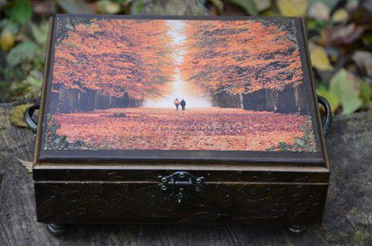 """Шкатулки ручной работы. Ярмарка Мастеров - ручная работа. Купить Шкатулка """" Осень"""". Handmade. Разноцветный, шкатулка деревянная"""