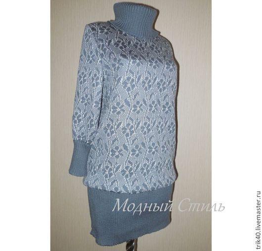 Платья ручной работы. Ярмарка Мастеров - ручная работа. Купить Платье-туника Жанна. Handmade. Серый, серый цвет, полушерсть