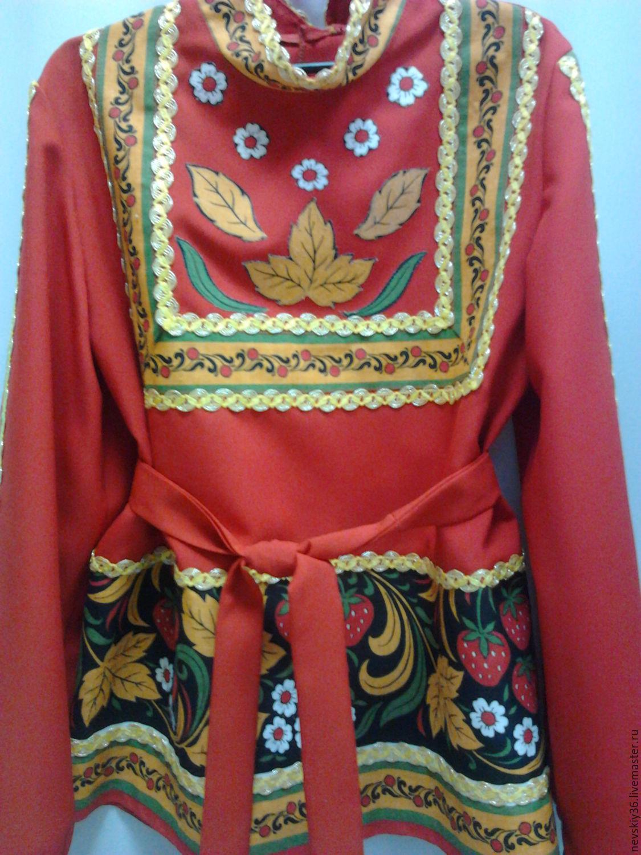 Стильная женская рубашка  Хохлома  Dress Code продажа