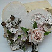 Подарки к праздникам ручной работы. Ярмарка Мастеров - ручная работа Подвеска- валентинка для интерьера, ручная работа, полимерная глина. Handmade.