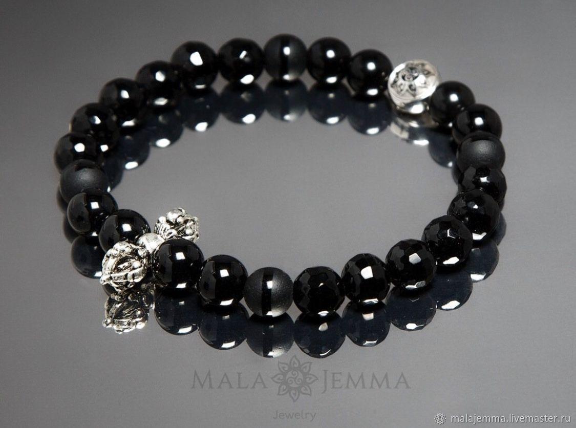 Stylish Black Onyx Bracelet, Bead bracelet, Magnitogorsk,  Фото №1