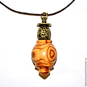 Украшения handmade. Livemaster - original item Wooden pendant Aromacology natural wood (cherry) С46. Handmade.