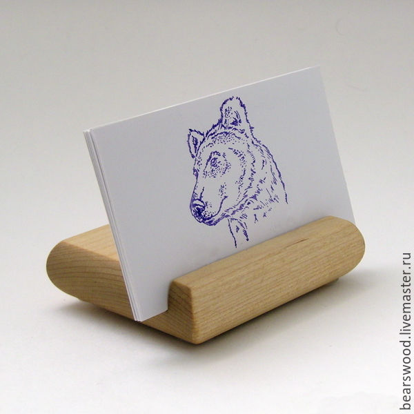 Business card holder desktop a stand for your smartphone beech business card holders handmade livemaster handmade buy business card holder desktop reheart Images