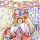 Picture of a bear with an attic doll !. Pictures. Tais-Silk. Online shopping on My Livemaster.  Фото №2