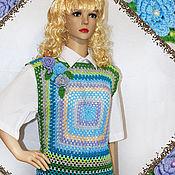 Vests handmade. Livemaster - original item Sweater vest womens crochet.. Handmade.