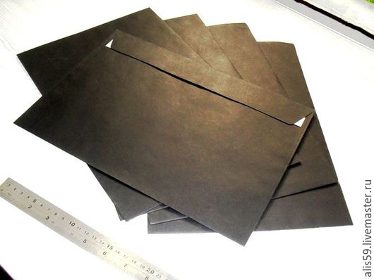 Чёрные конверты С4 (324х229 мм)