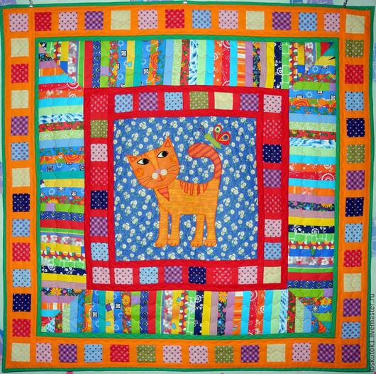 Пледы и одеяла ручной работы. Ярмарка Мастеров - ручная работа. Купить покрывало детское пэчворк КОТЯ 3 детский плед. Handmade.