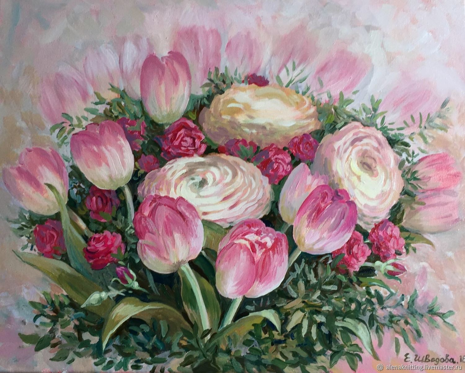 Oil painting 'Delicate bouquet', Pictures, Moscow,  Фото №1