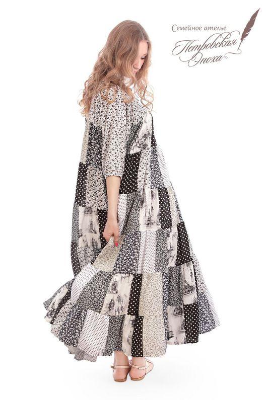 """Платья ручной работы. Ярмарка Мастеров - ручная работа. Купить Платье лоскутное """"Коллекция"""". Handmade. Лоскутное шитье, ярусное платье"""