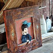 Картины и панно ручной работы. Ярмарка Мастеров - ручная работа Кукла в картине. Handmade.