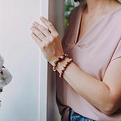 Украшения handmade. Livemaster - original item Jewelry set (bracelets and earrings)