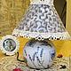"""Освещение ручной работы. Ярмарка Мастеров - ручная работа. Купить Лампа в стиле """"Прованс"""". Handmade. Лампа, светильник, лампа декупаж"""