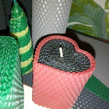 Для дома и интерьера ручной работы. Ярмарка Мастеров - ручная работа Свечи из цветной вощины. Handmade.