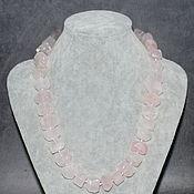 Украшения handmade. Livemaster - original item Rose Quartz Beads made of natural stones. Handmade.
