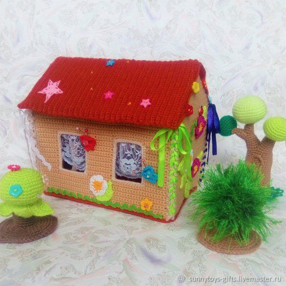 Knitted house game collapsible. For finger theatre, Doll houses, Berezovsky,  Фото №1