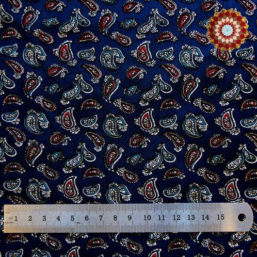 Ткань хлопок `Турецкий боб тёмно-синий`. Код товара: ZT-00035