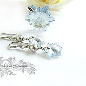 Украшения handmade. Livemaster - original item yodirovannoye earrings made with swarovski elements edelweiss