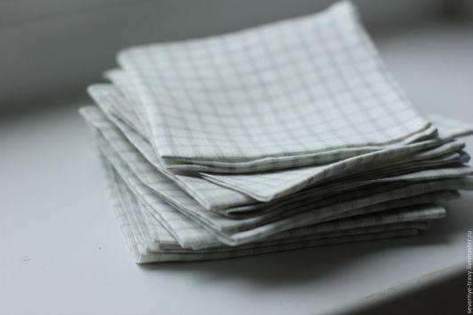 Носовые платочки ручной работы. Ярмарка Мастеров - ручная работа. Купить Носовой платок из льна. Handmade. Белый, носовой платок