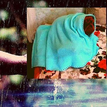 Текстиль ручной работы. Ярмарка Мастеров - ручная работа Плед вязаный Малыш. Handmade.