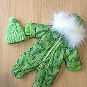 Одежда для кукол ручной работы. Ярмарка Мастеров - ручная работа Зимний комбинезон для беби бон. Handmade.