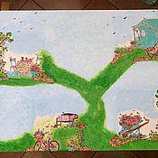 Столы ручной работы. Ярмарка Мастеров - ручная работа Детский деревянный декорированный стол. Handmade.