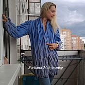 Одежда ручной работы. Ярмарка Мастеров - ручная работа Объемный кардиган Голубой жемчуг. Handmade.