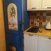Дизайн и реклама ручной работы. Ярмарка Мастеров - ручная работа Роспись холодильника Лимоны. Handmade.