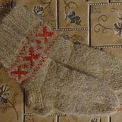 """Носки ручной работы. Ярмарка Мастеров - ручная работа Носки из собачьей шерсти,пуховые шерстяные  ( собачий пух) """" Молодуха"""". Handmade."""