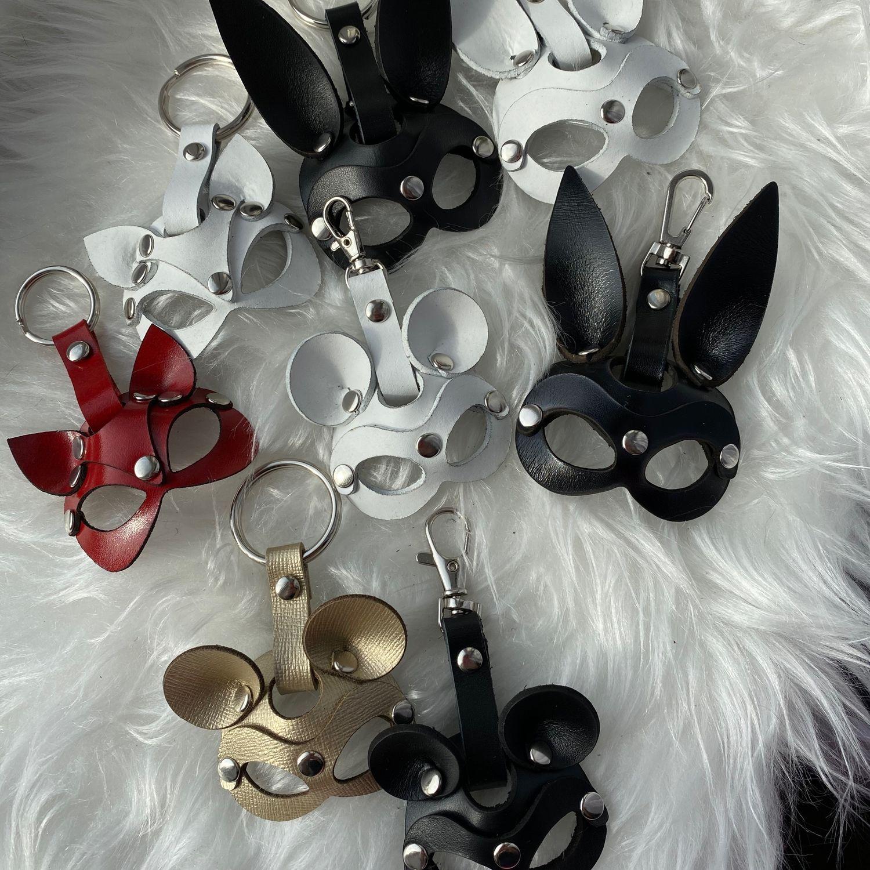 Брелочки маски из натуральной кожи, Брелок, Новосибирск,  Фото №1
