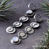 Украшения handmade. Livemaster - original item Earrings silver Full Moon, moonstone, adult. Handmade.