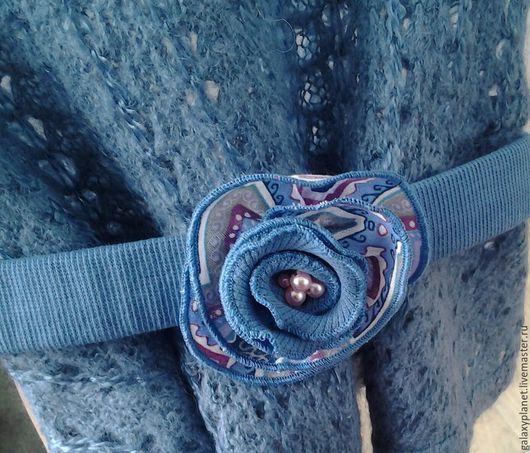 Одежда для девочек, ручной работы. Ярмарка Мастеров - ручная работа. Купить Джемпер-бохо для девочки серо-синий с баской к платью. Handmade.