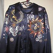 Одежда ручной работы. Ярмарка Мастеров - ручная работа Рубашка атласная. Handmade.