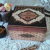 """Для дома и интерьера ручной работы. Ярмарка Мастеров - ручная работа Шкатулка """"Шоколад"""". Handmade."""
