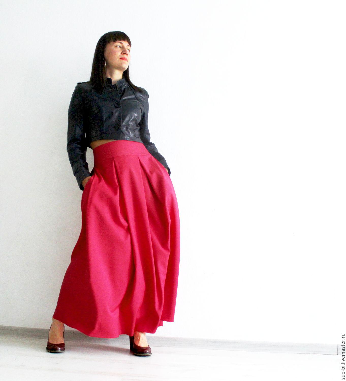 Длинные юбки в пол с карманами
