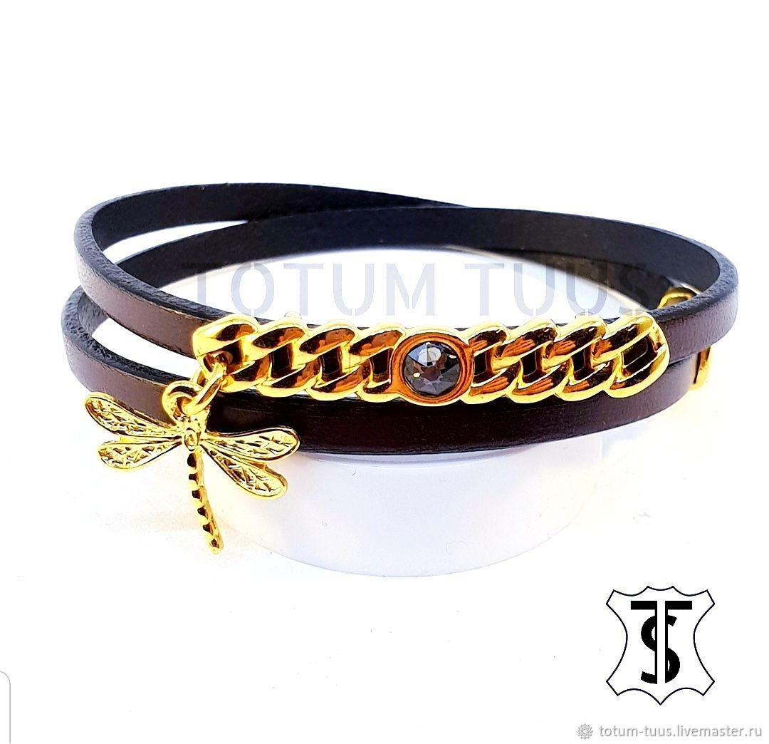 Leather bracelet for girl Art: 18000242, Bead bracelet, Prague,  Фото №1
