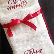 Для дома и интерьера handmade. Livemaster - original item Set of two towels with embroidery . Monogram. Handmade.