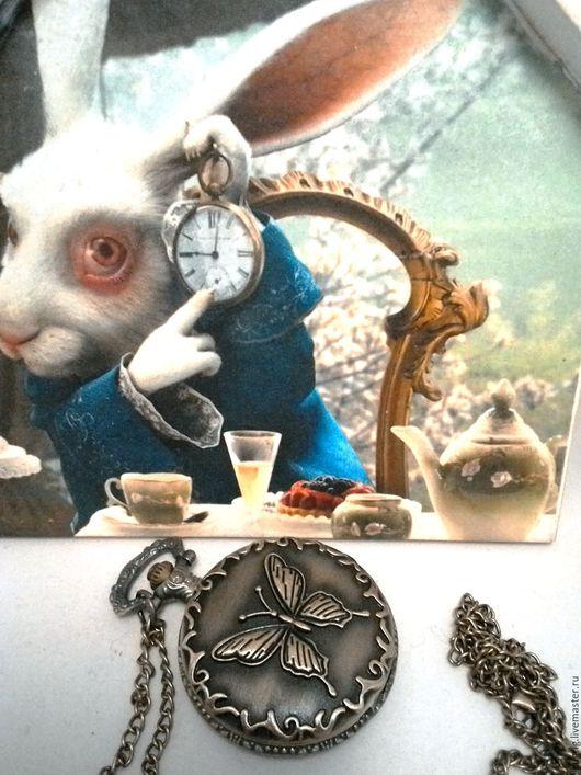 "Часы ручной работы. Ярмарка Мастеров - ручная работа. Купить Часы карманные ""Большая бабочка"". Handmade. Часы, часы на цепочке"