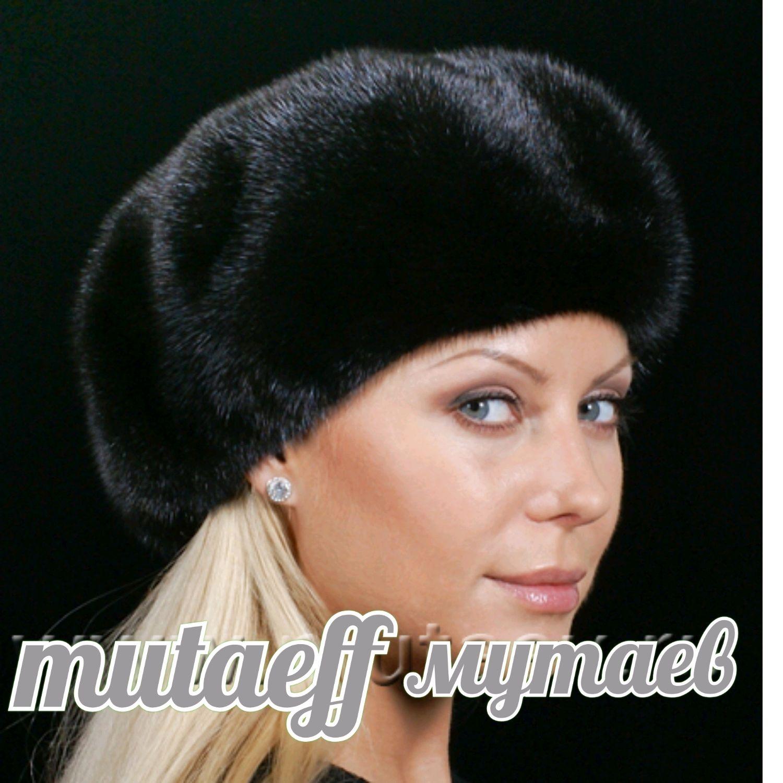 Women's hat (beret) of mink fur, Caps, Moscow,  Фото №1