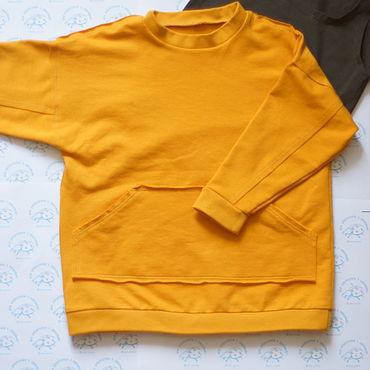 Одежда ручной работы. Ярмарка Мастеров - ручная работа Детский свитшот с карманом. Handmade.
