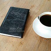 Канцелярские товары handmade. Livemaster - original item Cover for notebook made from genuine leather lizard. Handmade.